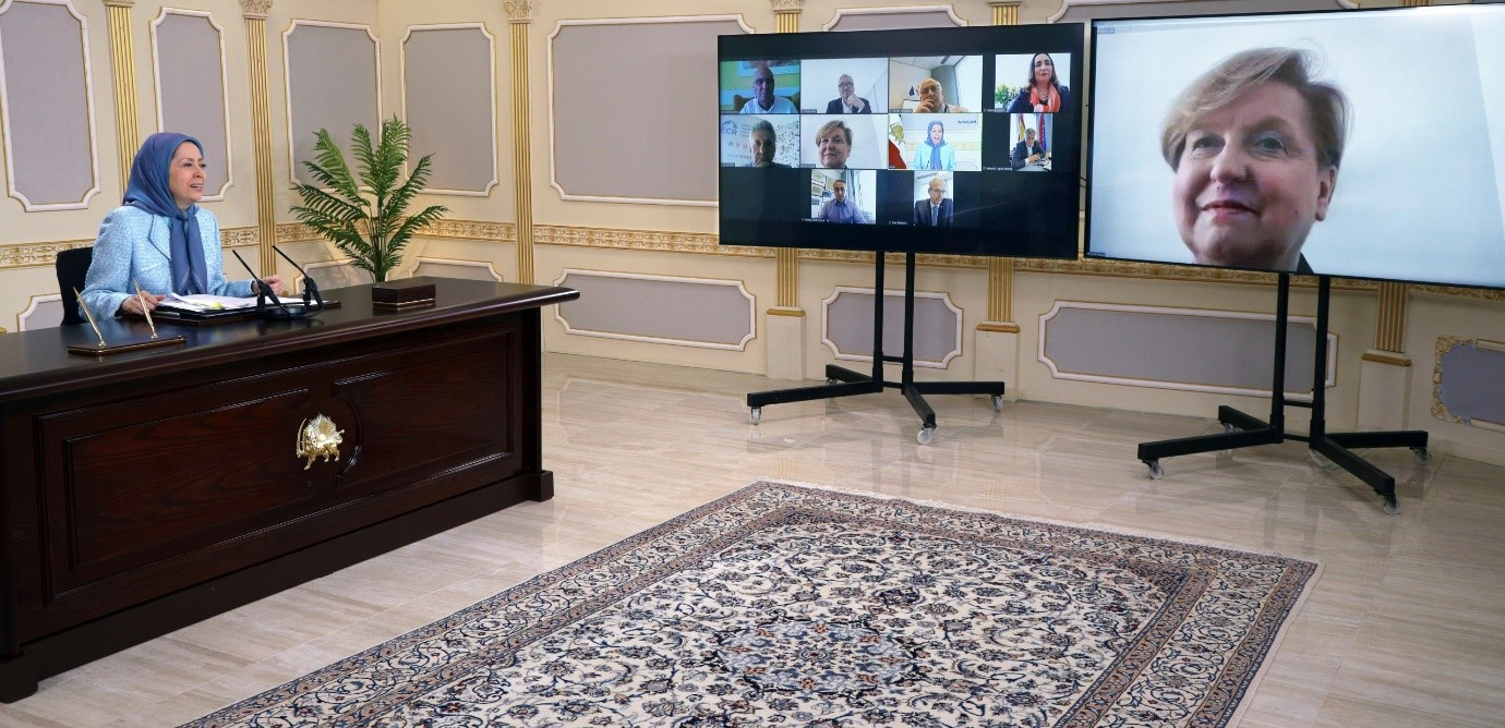 Online conference with Maryam Rajavi and members of the European Parliament – April 2021